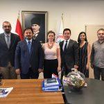 Uluslararası Patent Birliği'nden Av. Dincer Tomruk, Av. Erdem Turan ve Patent Vekili Zeynep Gülser Kınalı, Bursa Barosu Başkanı Av. Gürkan Altun'u ziyaret etti.